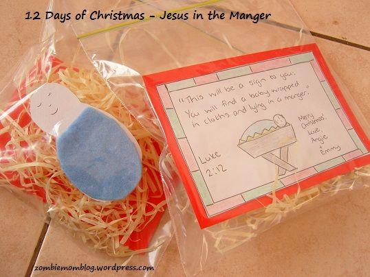 Jesus in the Manger #craft for #preschoolers #christmas