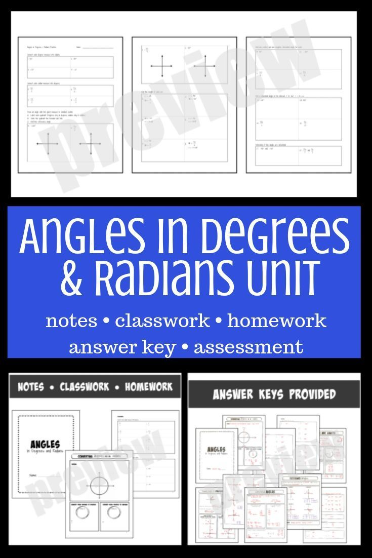 Angles In Degrees And Radians Unit Geometry Lessons High School Calculus The Unit
