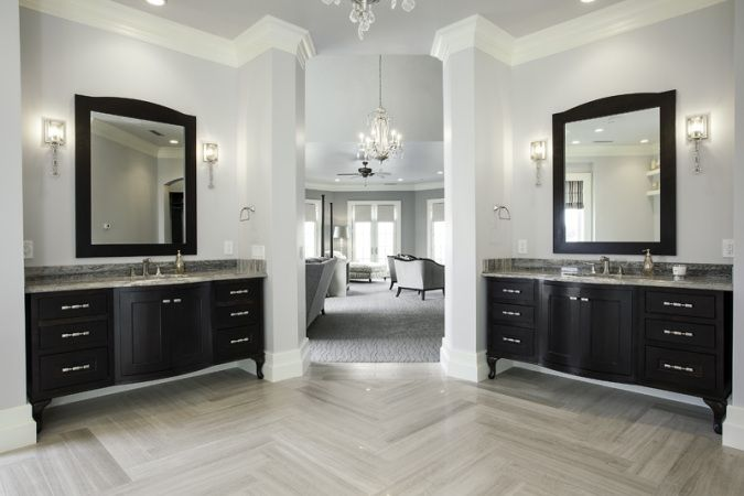 black and white bathroom images myers construction custom home builder loeffler 22724