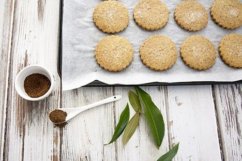 Lemon Myrtle and Wattleseed Shortbread