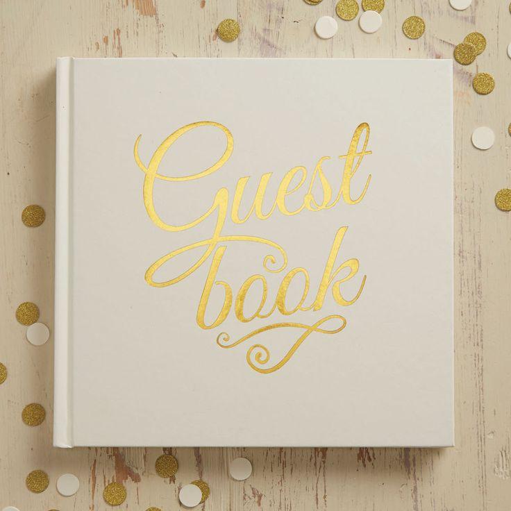 Gastenboek Ivoor en Goud. Dit ivoren gastenboek past perfect bij jullie romantische bruiloft. Een klein detail voor een mooie dag!