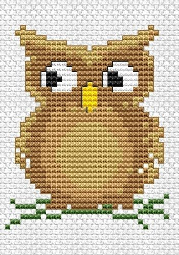 Cute Owl Free Cross Stitch Pattern.  quite a few nice free cross stitch patterns at this website.