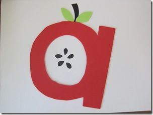 This is an amazing blog full of alphabet ideas.  I want to put a letter on the fridge every week.