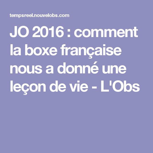 JO 2016 : comment la boxe française nous a donné une leçon de vie - L'Obs