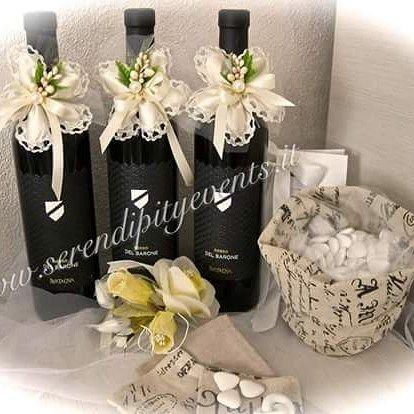 #bomboniere #bottiglia #vino #matrimonio #nozze #wedding #confetti #country