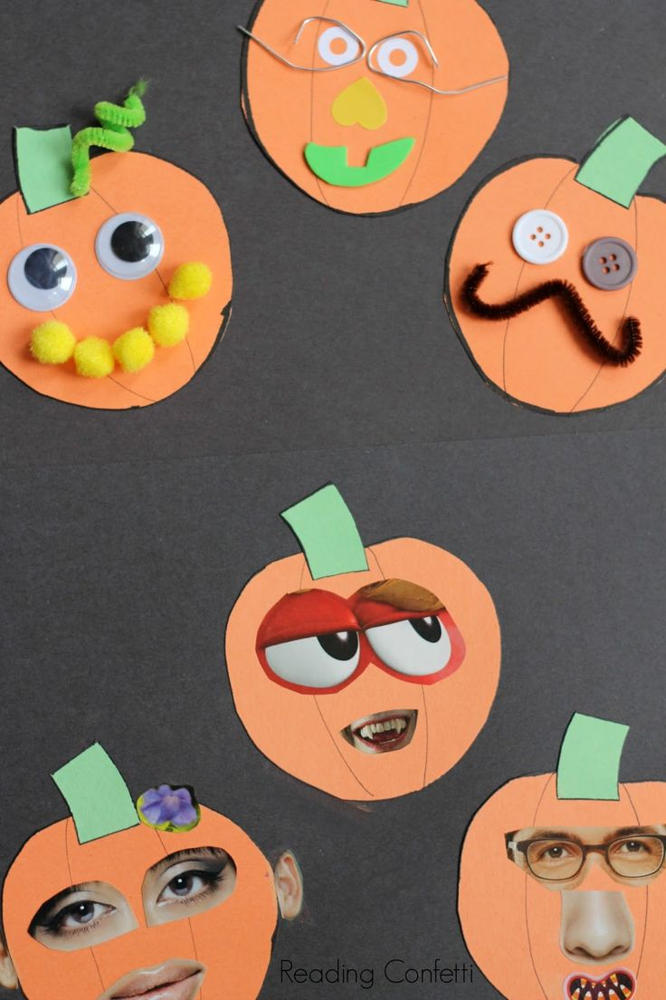 36 best halloween images on pinterest school fall and autumn easy jack o lantern collage craft for preschoolers jeuxipadfo Choice Image