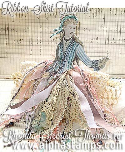 Alpha Stamps News » Lacy Skirts & Teatime! (with a Tutorial & Giveaway!)