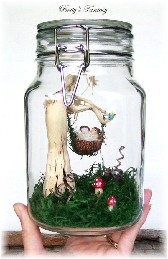 Baby fairy in jar