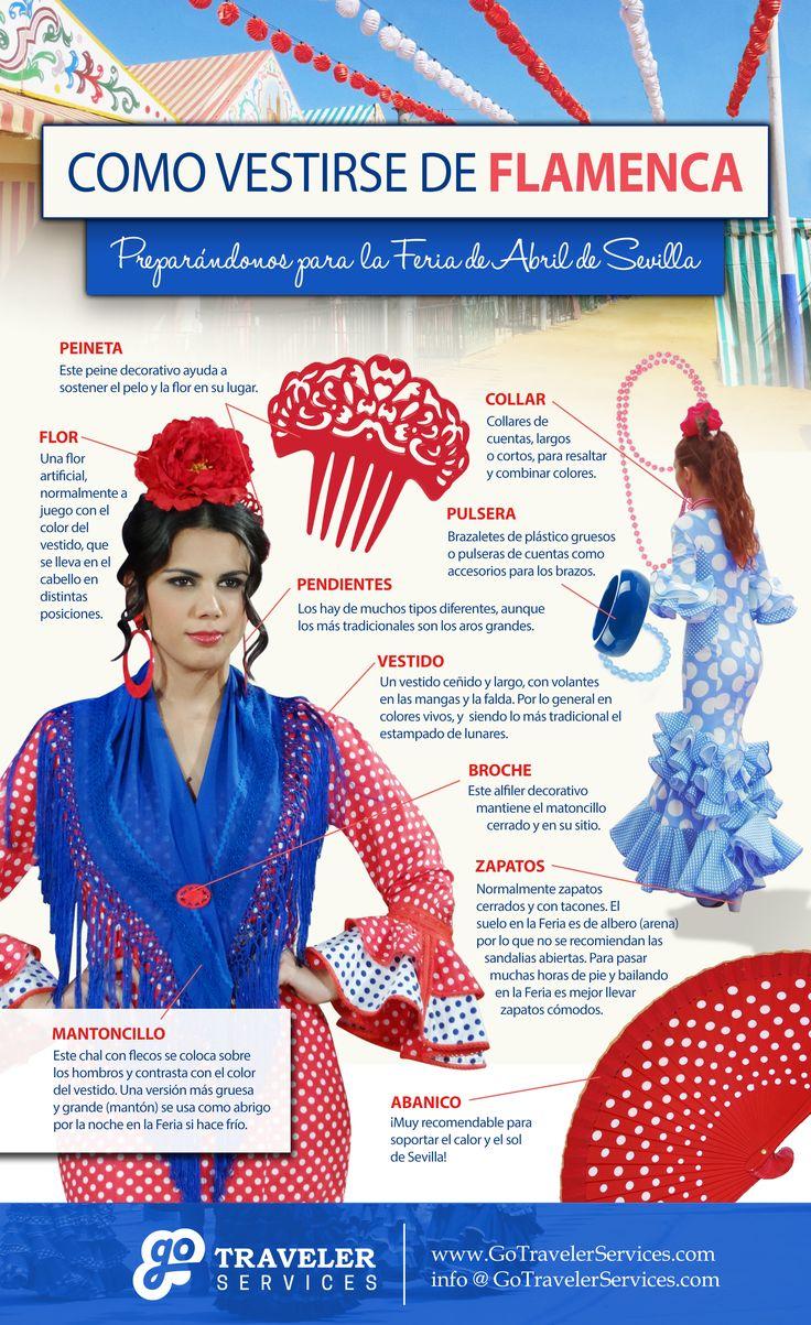 Como vestirse de Flamenca: preparándonos para la Feria de Abril de Sevilla. #Infografico #España
