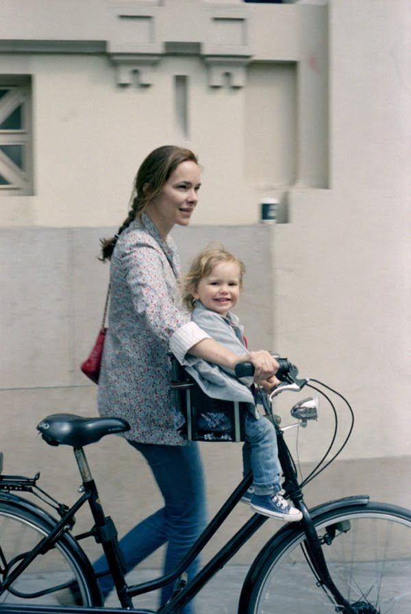 Stylist Ondine Saglio in Thomsen at home with her kids. Photos by Aya Yamamoto. From Thomsen's blog.