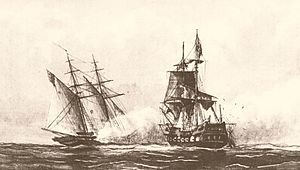 August 1, 1801 -  The American schooner USS Enterprise captures the Tripolitan polacca Tripoli in a single-ship action off the coast of modern-day Libya.