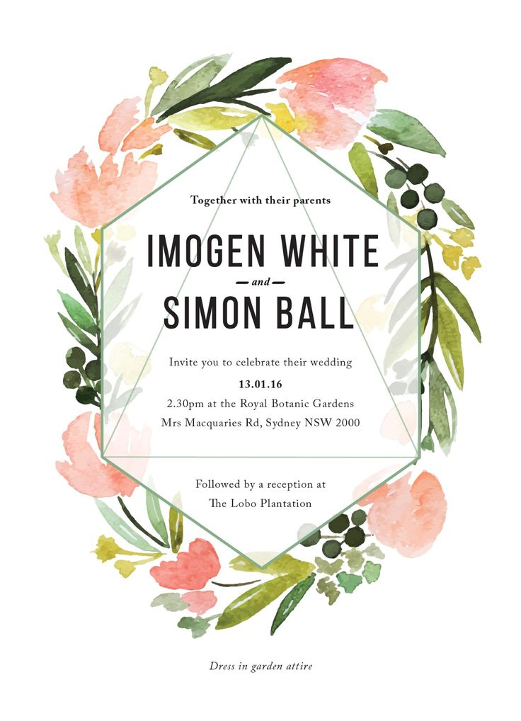17 Best Ideas About Floral Wedding Invitations 2017 On