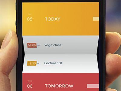 Peek Calendar #ui #app