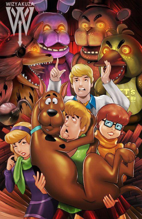 Scooby Doo  em Five Nights at Freddy's,vai ser difícil tirar a máscara e encontrar alguém vivo.....