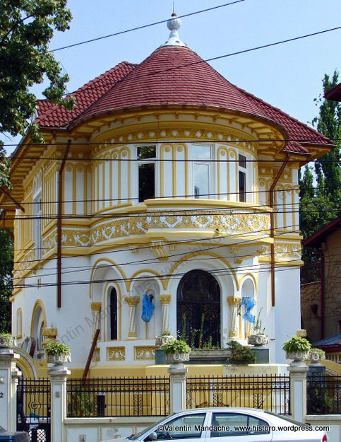 Church shape Neo-Romanian style house, Bucharest