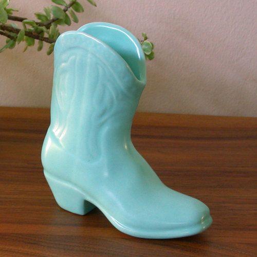Vintage Metlox Miniatures California Pottery Cowboy Boot