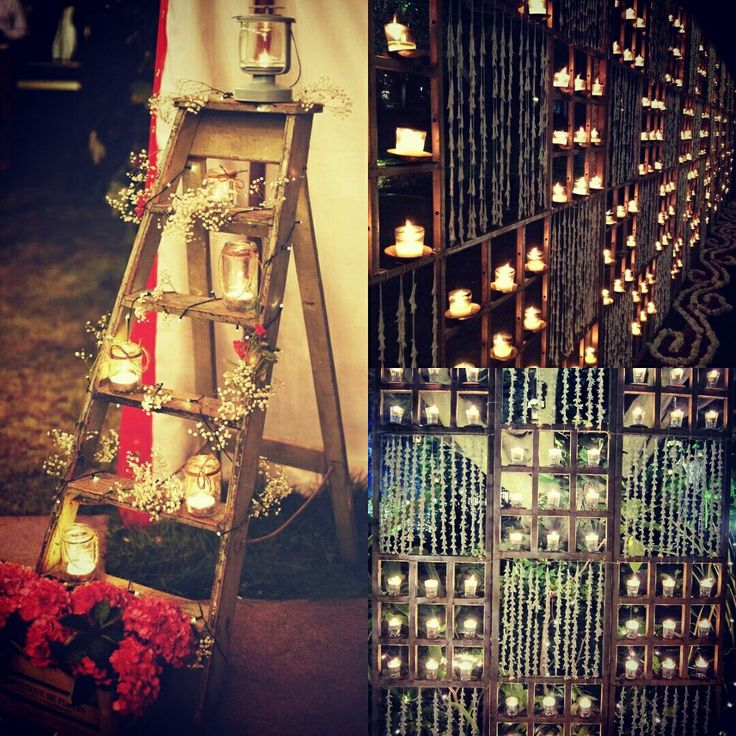 #candles #flowers are the perfect props to design your dream wedding #InspiredWeddingDecor