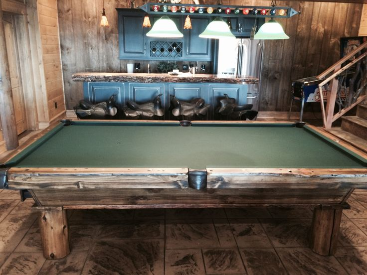 Gameroom Of The Month: Olhausen Cumberland Pool Table. Installed In  Charlotte, NC.