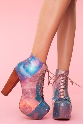Lita Platform Boot - Cosmic (I could literally never wear these because I would end up accidentally breaking my neck, but I love them)