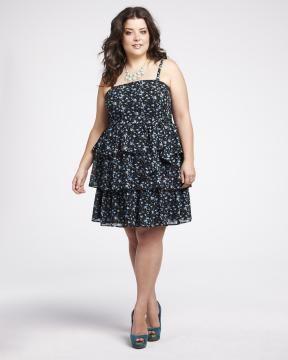 printed shutter dress   Shop Online at Addition Elle #AdditionElleOntheRoad
