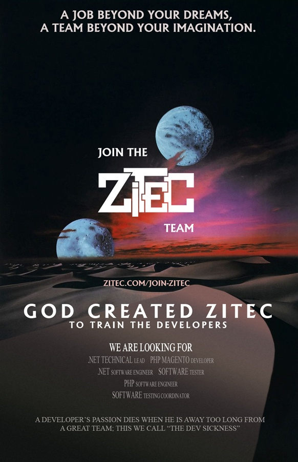 A job beyond your dreams, a team beyond your imagination: http://www.zitec.com/join-zitec