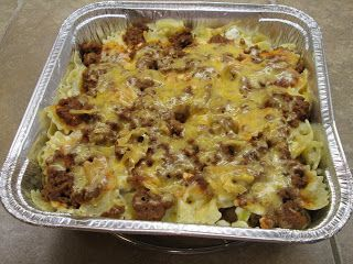 Pioneer Woman's Sour Cream Noodle Bake      A couple of months ago I started stocking my freezer with things I could pull out for easy mea...