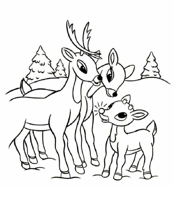 christmas reindeer coloring pages for kids - rudolph the red nosed reindeer coloring pages grammy
