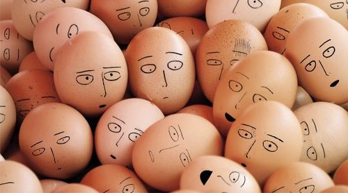 one punch man - saitama I want to desgn our eggs right now. Saitama <3