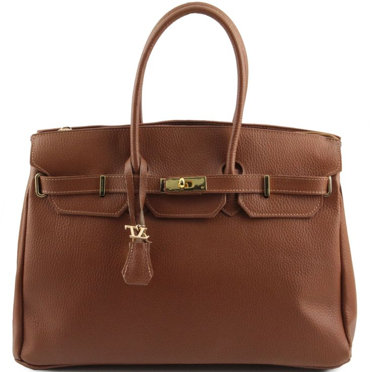 TL Bag TL141092 Leather handbag with golden hardware