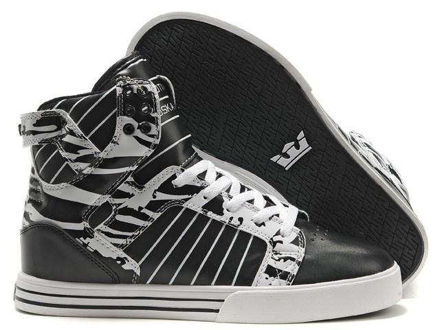 2011 New Supra Shoes black white 2011 supras mens