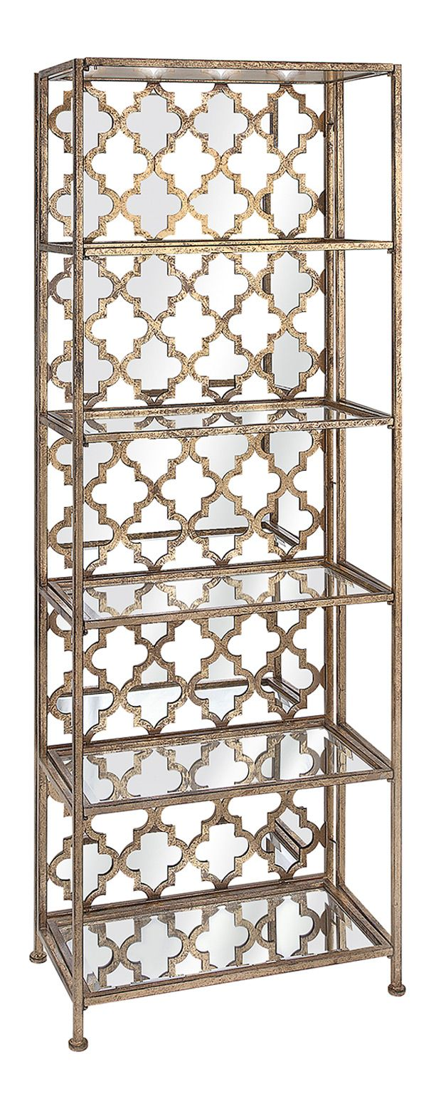 "If ""classic and intricate"" is right up your alley, you won't want to miss the Giselle Mirrored Shelf. A stunning Moroccan tile pattern brings dimension and eye-catching flair to the back, with mirrored...  Find the Giselle Mirrored Shelf, as seen in the #TheGenieDen Collection at http://dotandbo.com/collections/thegenieden?utm_source=pinterest&utm_medium=organic&db_sku=115104"