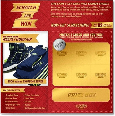 Champs scratch and win sweepstakes #casestudy #marketing