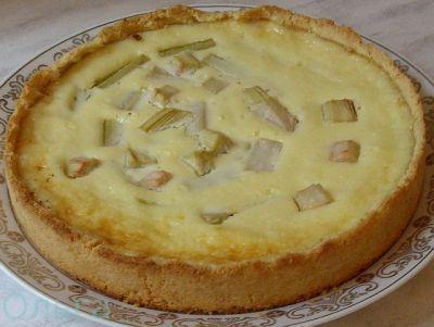 Песочный пирог с ревенем : Готовим вместе с Ольгой К.
