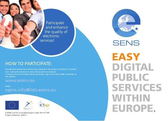 e-SENS value story End Users by e-SENS project via slideshare