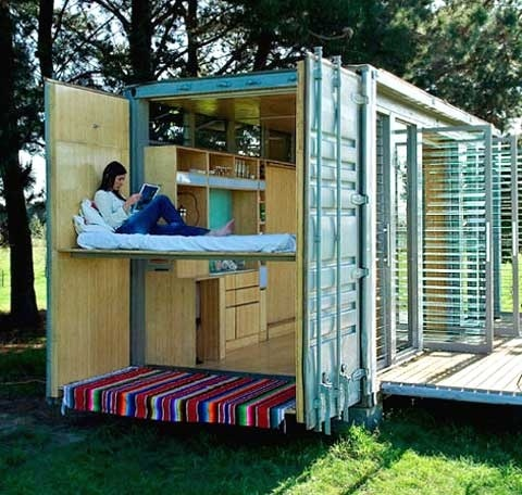 port a bach a container getaway sprinter pinterest. Black Bedroom Furniture Sets. Home Design Ideas