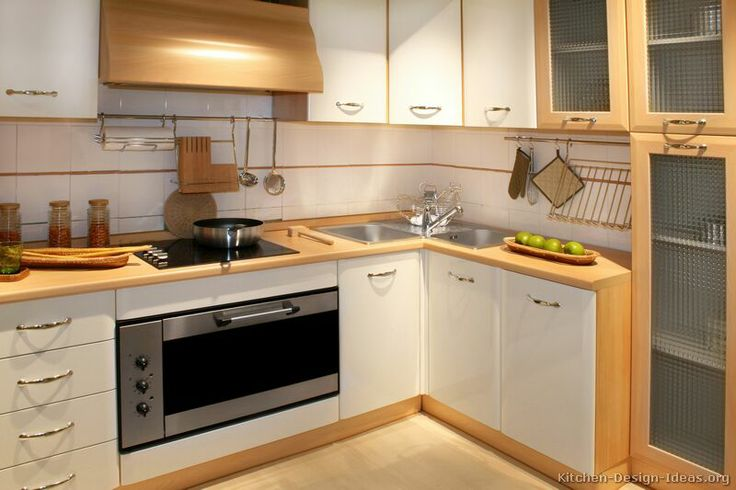 Modern Two-Tone Kitchen Cabinets #06 (Kitchen-Design-Ideas.org)