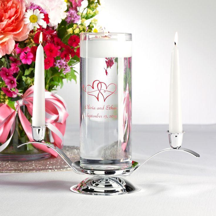 Floating Unity Candle Set | #exclusivelyweddings  | #redwedding