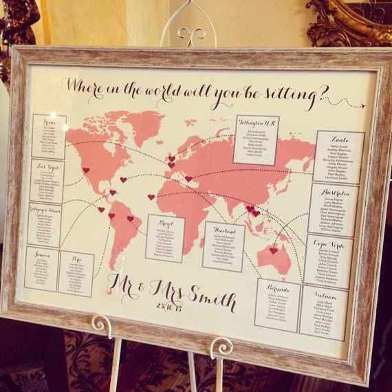 World Map Table Plan by CANDYFLOSSCREATIONS1 on Etsy – #CANDYFLOSSCREATIONS1 #Et…