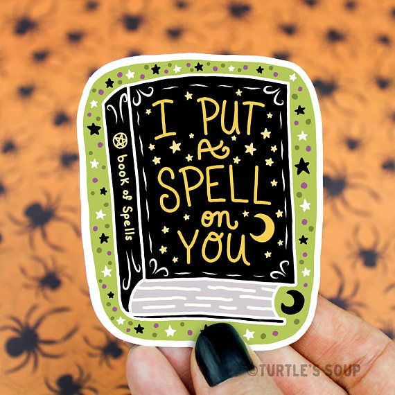 Spell book sticker vinyl decal witch sticker halloween goth sticker pastel