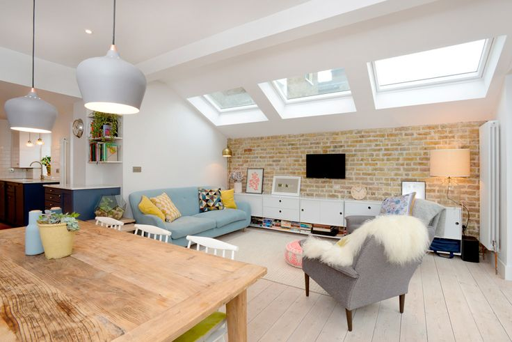 Stroud Green, N5, London, Side Return Extension, Kitchen Extension, Ground Floor Flat Extension, Bi-Fold Doors, Kitchen, Rear Extension, Roof-lights, Pitched Roof, Side Return Ideas, Kitchen Extension Ideas, Dining Area Ideas, Living Area Ideas, Open Plan Living, Pendulum Lights