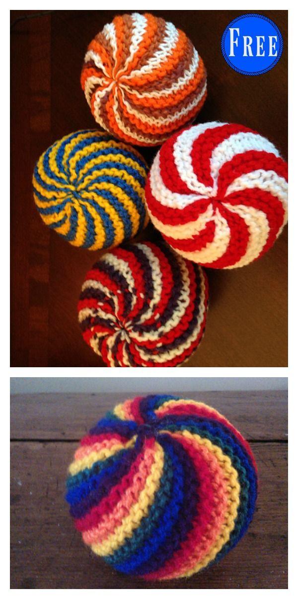 Fácil Knit Swirl Ball Padrão De Tricô Livre