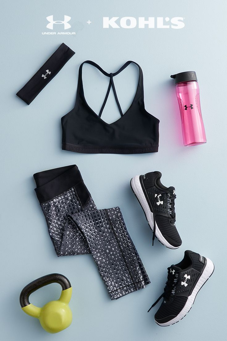Incorporating weights into your workout routine is a great way to burn fat, improve bone density and mix up your workout routine. Plus, anywhere you can find something to lift (we're looking at you, toddlers), you can get a weight workout in. A sleek, fitted outfit is perfect to support your workout and stay out of your way. Get your start with Under Armour, now at Kohl's.