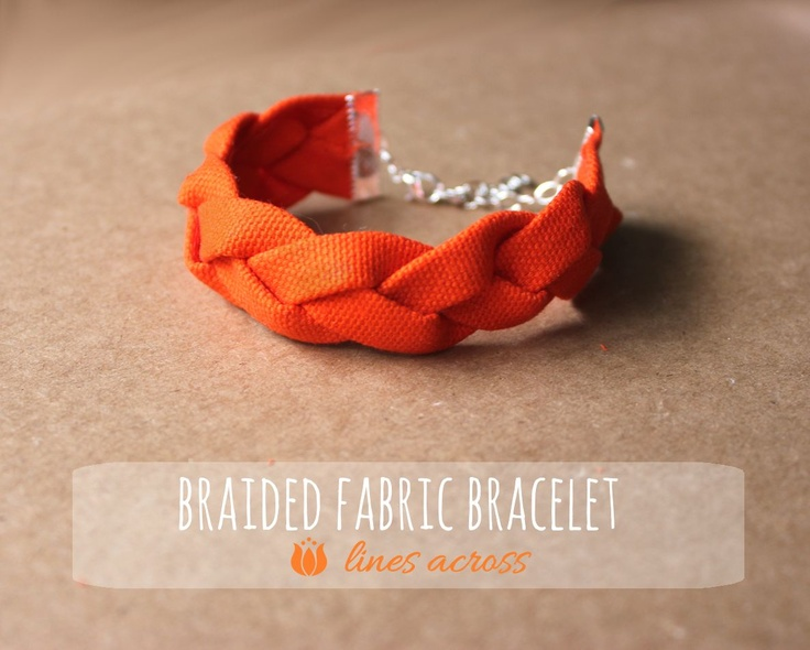 """Lines Across"": Braided Fabric Bracelets"