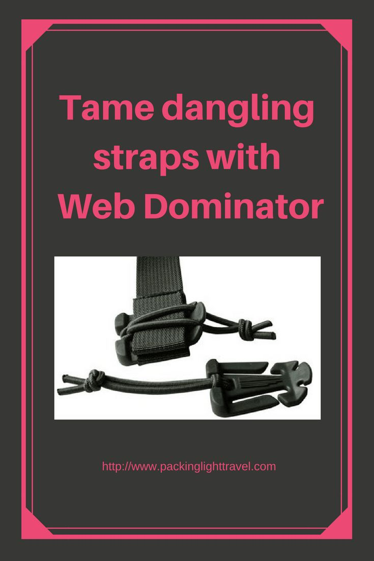 Tame-dangling-straps-with-Web-Dominator manage backpack straps strap management system how to constrain backpack straps