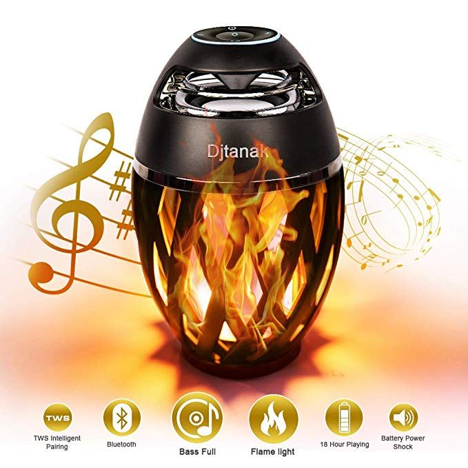 Djtanak Led Bluetooth Speaker Flame Ambience Lantern Outdoor Speakers With Stereo Sound Portable Wireless Speaker Exclusive Bassup Tws Supported Night Ligh Wireless Speakers Portable Wireless Speakers Outdoor Lanterns