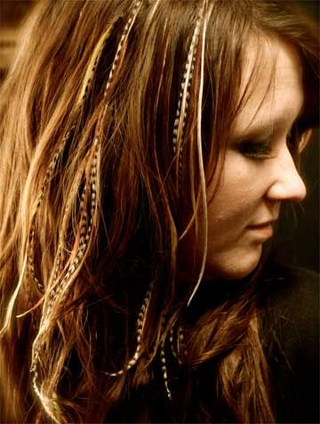 I really want feathers like this (of course a bit darker to blend with my darker hair) No crazy colors, just something fun. I think we could all use a little more fun in our lives!