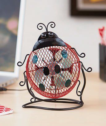 "Cute Ladybug Design Mini Desk Fan USB Plug Into Laptop Desktop Computer Personal Workstation Home Office 6-3/4""w X 3-3/4""d X 8-1/4""h Unknown"