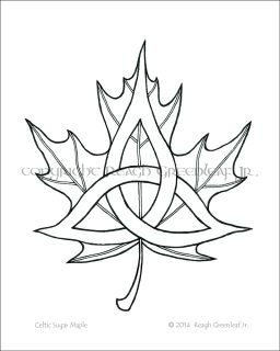 8x10 art printTastefully display your Celtic and Vermont pride!Two well-known symbols joined: the Sugar Maple (Acer saccharum) leaf, and Celtic triple-knot. Original design by Reagh Greenleaf Jr. The flagship design and Trademark of Vermont Celtic Co.