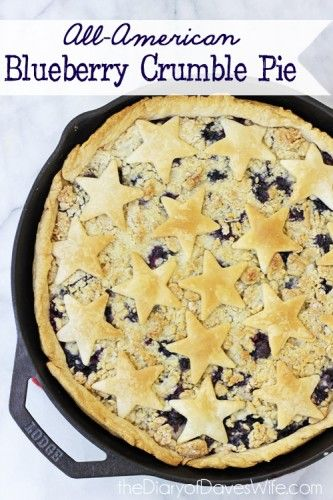 All American Blueberry Crumble Pie
