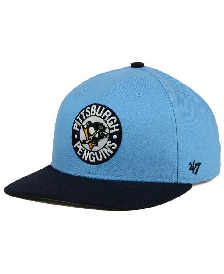 '47 Brand Pittsburgh Penguins Sure Shot Snapback Cap